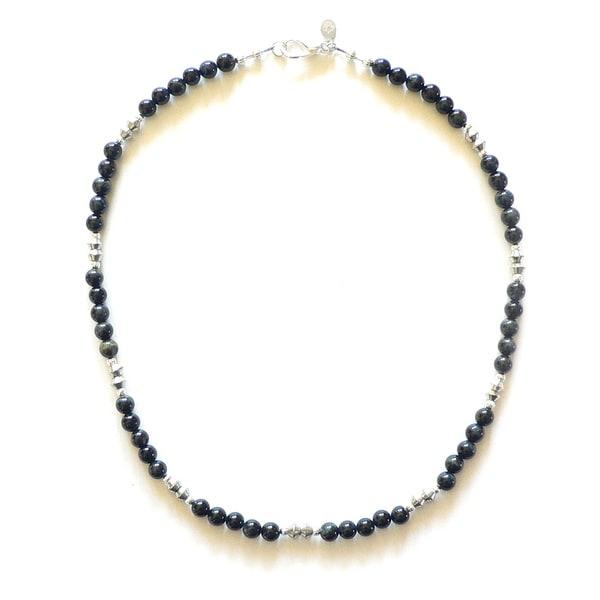 Eddard' Men's 19 - 20-inch Blue Tiger's Eye Bead Necklace