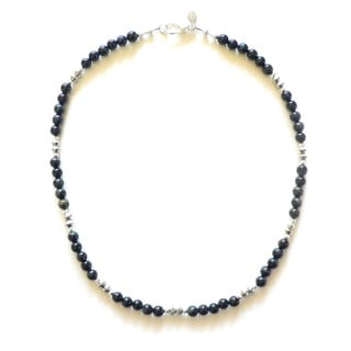 Eddard' Men's 19 - 20-inch Blue Tiger's Eye Bead Necklace