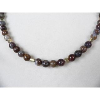 Rickon' Men's 19 - 20-inch Eagle's Eye Bead Necklace
