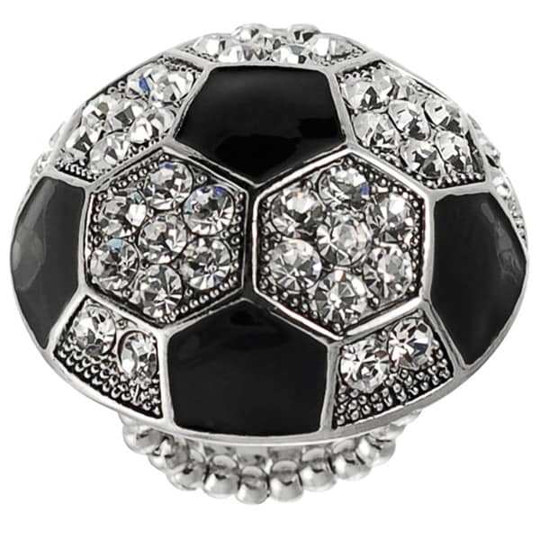 Journee Collection Stainless Steel Soccer Ball Stretch Ring