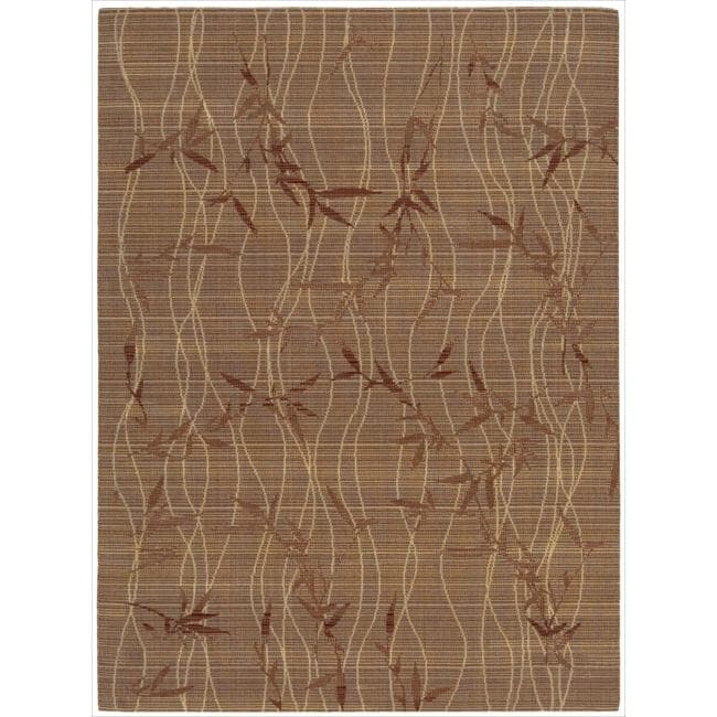 "Nourison Home Brown Wool Rug (5'6"" x 7'5"")"
