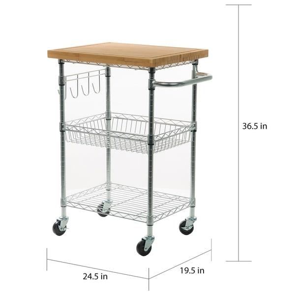 Chrome Trinity Ecostorage Bamboo Kitchen Cart Home Kitchen Kitchen Dining Room Furniture Swl13562 Nl