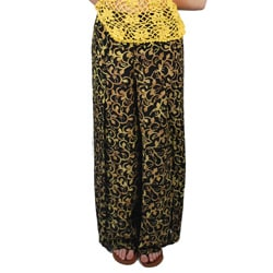 Rayon Printed Side Slit Pants (Indonesia)