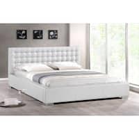 Madison White Modern Queen Platform Bed
