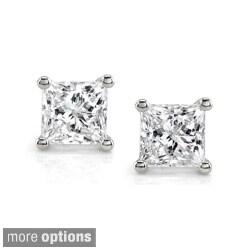 Montebello 14k White Gold 1ct TDW IGL-Certified Diamond Stud Earrings (I-J, I2-I3)