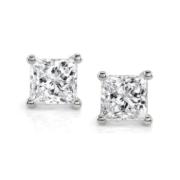 Montebello 14k White Gold 1ct TDW IGL-Certified Diamond Stud Earrings