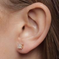 Montebello 14KT White Gold 1ct TDW Certified Diamond Stud Earrings
