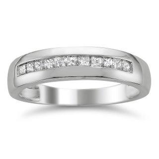 Montebello 14k Gold Men's 1/2ct TDW Diamond Wedding Band (More options available)