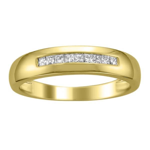 Montebello 14k Gold Men's 1/4ct TDW Diamond Wedding Band (H-I, SI2-I1)