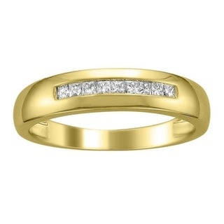 Link to Montebello 14KT Gold Men's 1/4ct TDW Diamond Wedding Band Similar Items in Rings