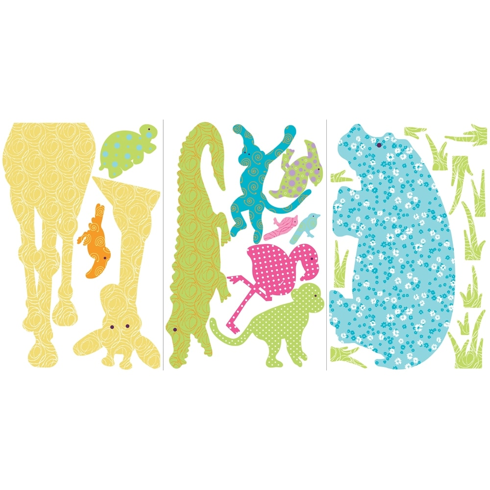 Shop Colorful Animal Silhouettes Peel & Stick Wall Decal MegaPack ...