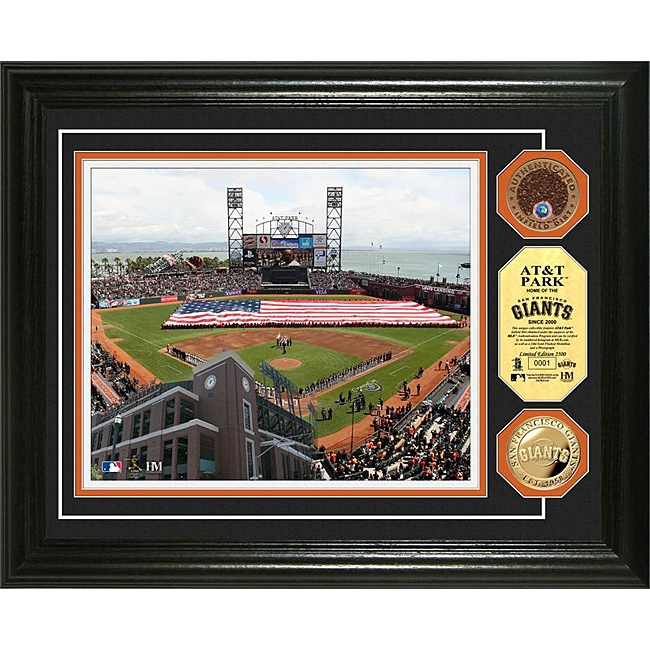 Highland Mint AT&T Park Gold and Infield Dirt Coin Photo Mint