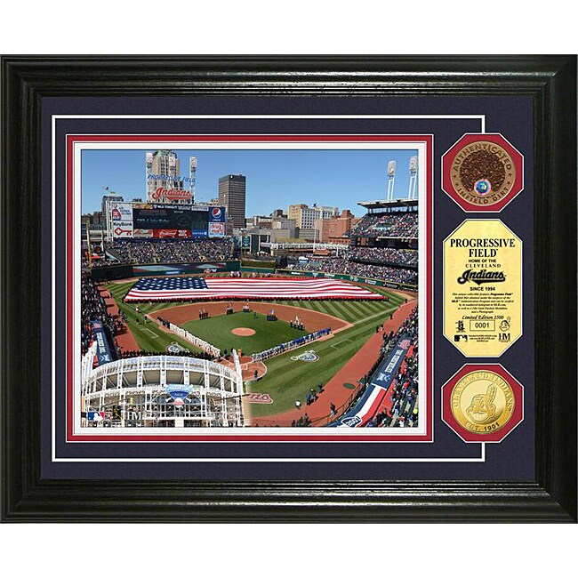 Progressive Field Gold and Infield Dirt Coin Photo Mint
