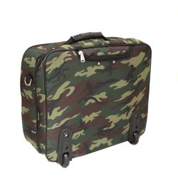 World Traveler Camouflage Rolling 17-inch Laptop Case - Thumbnail 1
