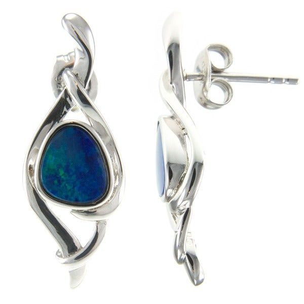 Pearlz Ocean Boulder Opal Stud Earrings