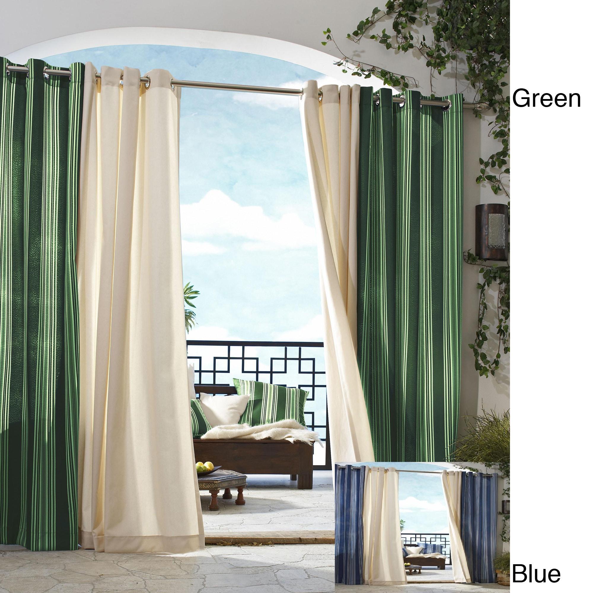 Gazebo Outdoor Stripe Panel 84 inch Indoor/ Outdoor Curtain Panel