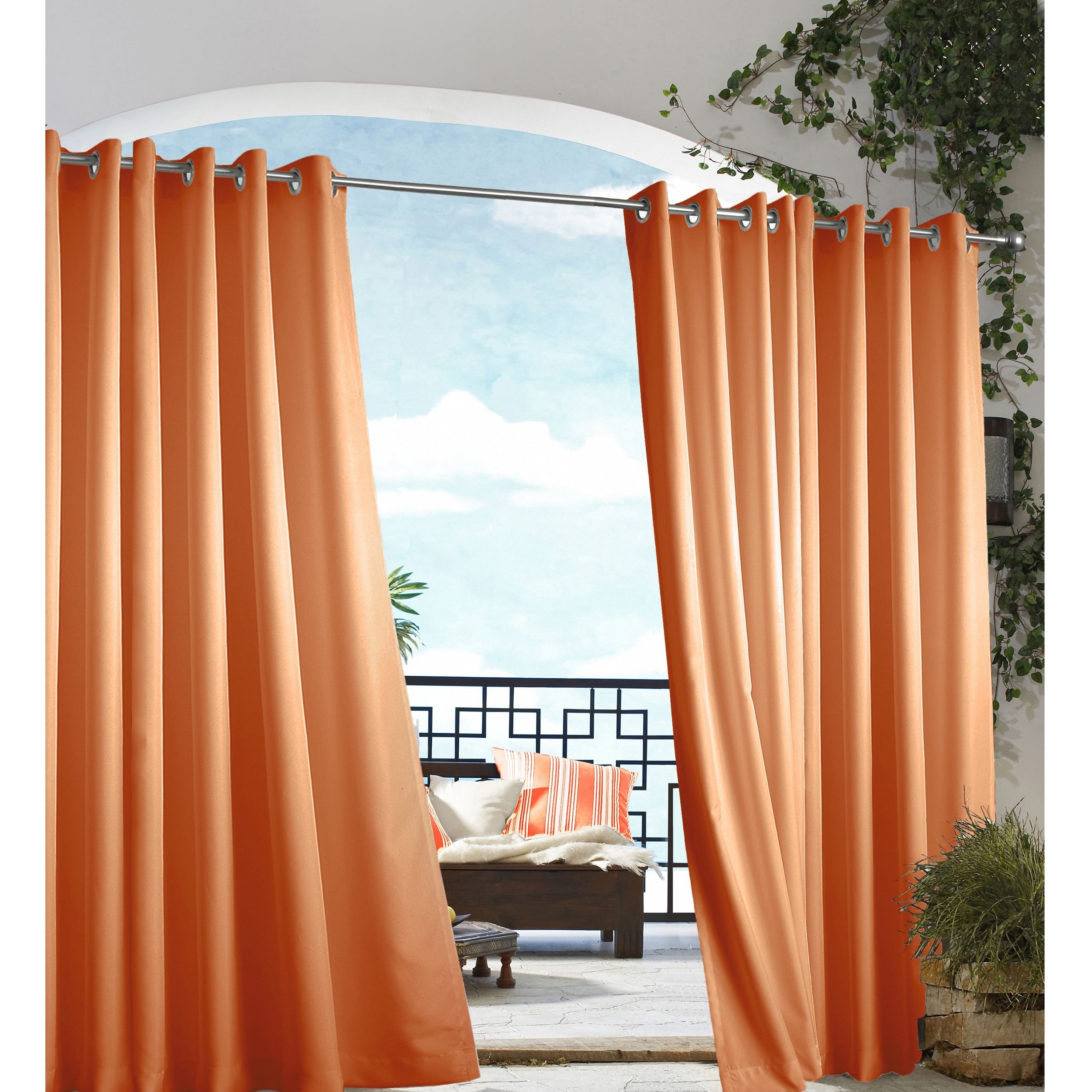 Grommet Top Indoor Outdoor Curtain Panel