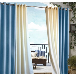 Gazebo Indoor/ Outdoor Grommet Top Curtain Panel (Option: Red)