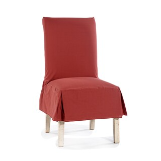 Classic Cotton Duck Dining Chair Slipcovers (Set of 2) (Option: Red)