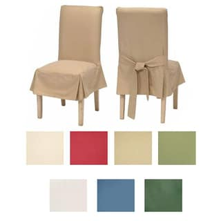 black dining chair covers. Classic Cotton Duck Dining Chair Slipcovers (Set Of 2) Black Covers