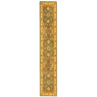 Safavieh Handmade Anatolia Oriental Legacy Light Blue Hand-spun Wool Rug (2'3 x 16')