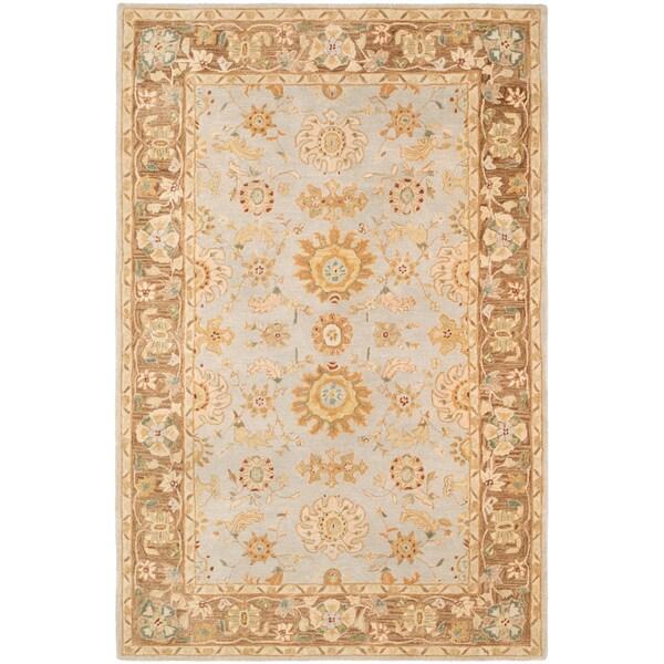 Safavieh Handmade Anatolia Treasure Oriental Teal/ Brown Hand-spun Wool Rug (6' x 9')