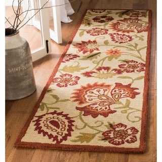 Safavieh Handmade Blossom Paisley Beige Wool Rug (2'3 x 11')