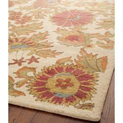 Safavieh Handmade Blossom Flowers Ivory Wool Rug (8'9 x 12') - Thumbnail 1