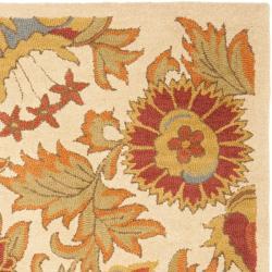 Safavieh Handmade Blossom Flowers Ivory Wool Rug (8'9 x 12') - Thumbnail 2