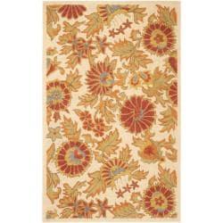 Safavieh Handmade Blossom Flowers Ivory Wool Rug - 8'9 x 12' - Thumbnail 0