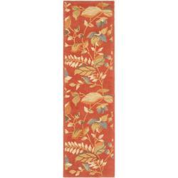 Safavieh Handmade Blossom Botanical Rust Wool Rug (2'3 x 11')