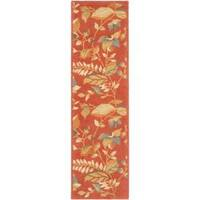 "Safavieh Handmade Blossom Botanical Rust Wool Rug - 2'3"" x 11'"