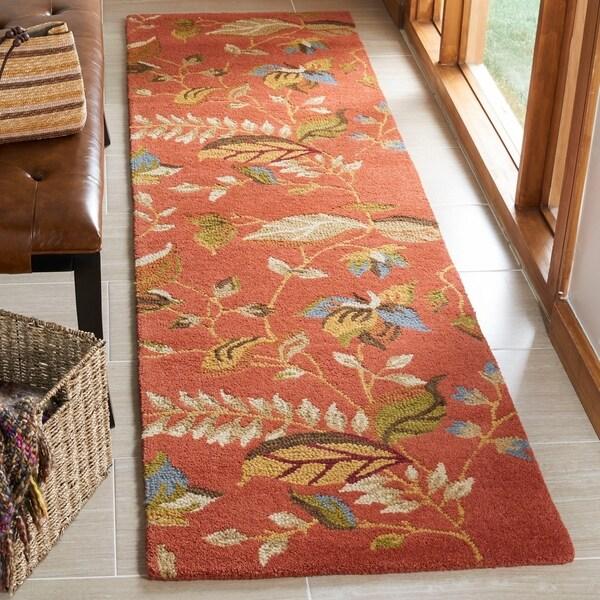 Shop Safavieh Handmade Blossom Botanical Rust Wool Rug 2