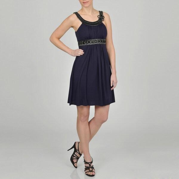 Decode 1.8 Women's Contemporary Navy Blue Social Dress