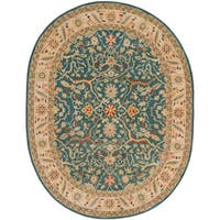 "Safavieh Handmade Antiquities Mahal Blue/ Beige Wool Rug - 7'-6"" x 9'-6"" oval"