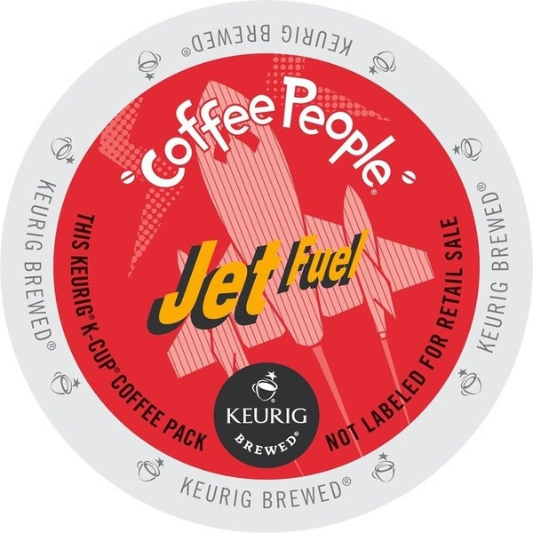 Coffee People Dark Roast, Jet Fuel, K-Cups for Keurig Brewers
