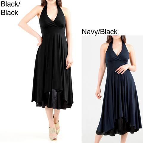 Evanese Women's Sexy Halter Neck Dress
