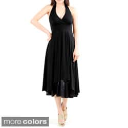 Evanese Women's Sexy Halter Neck Dress|https://ak1.ostkcdn.com/images/products/6678077/Evanese-Womens-Sexy-Halter-Neck-Dress-P14234458.jpg?impolicy=medium