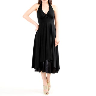 Evanese Women's Sexy Halter Neck Dress
