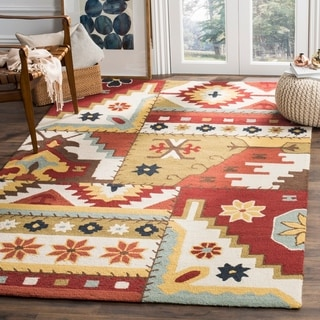 Safavieh Hand-hooked Southwest Wool Rug (5'3 x 8'3)