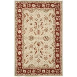 Safavieh Hand-hooked Oushak Ivory/ Rust Wool Rug (5'3 x 8'3)