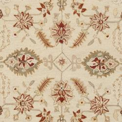 Safavieh Hand-hooked Oushak Ivory/ Rust Wool Rug (7'6 x 9'9) - Thumbnail 2