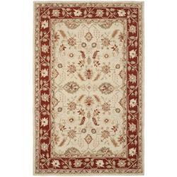 Safavieh Hand-hooked Oushak Ivory/ Rust Wool Rug (7'6 x 9'9)