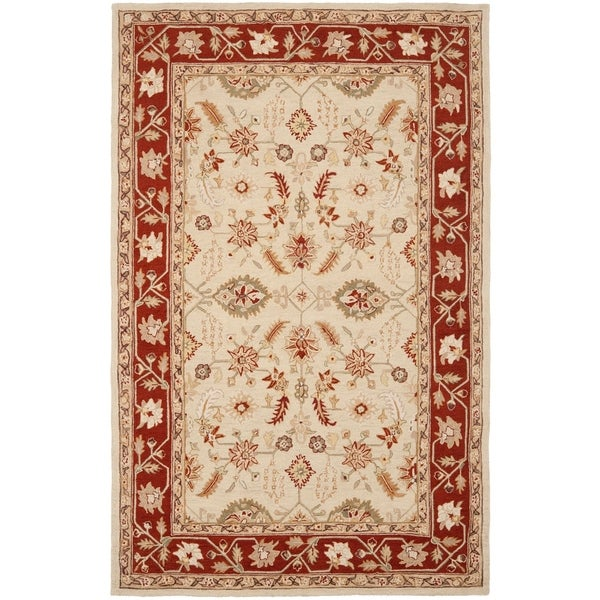 "Safavieh Hand-hooked Oushak Ivory/ Rust Wool Rug - 7'9"" x 9'9"""