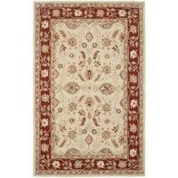 Safavieh Hand-hooked Oushak Ivory/ Rust Wool Rug - 8'9 X 11'9