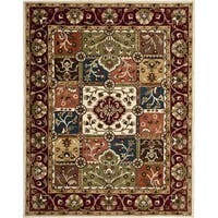 Safavieh Handmade Heritage Timeless Traditional Multi/ Red Wool Rug - 7'6 x 9'6