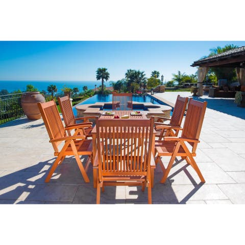 Balthazar Eco-friendly 7-piece Wood Patio Dining Set