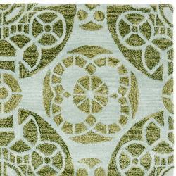 Safavieh Handmade Treasures Turquoise New Zealand Wool Rug (8' x 10') - Thumbnail 1