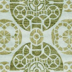 Safavieh Handmade Treasures Turquoise New Zealand Wool Rug (8' x 10') - Thumbnail 2
