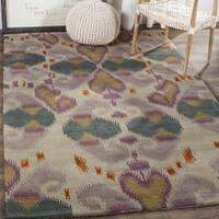 Safavieh Handmade Chatham Reflections Ivory New Zealand Wool Rug - 4' x 6'